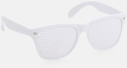 Vit Solglasögon med tryck direkt på glaset