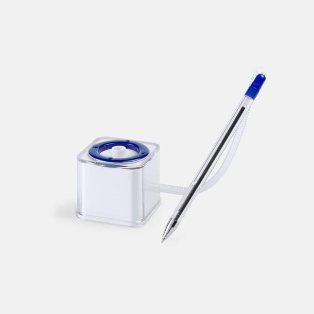 Bläckpenna med ställ och plastkedja - med reklamtryck