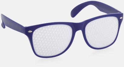Blå Solglasögon med tryck direkt på glaset