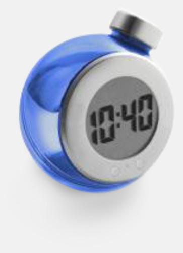 Blå Vattendrivna klockor med reklamtryck