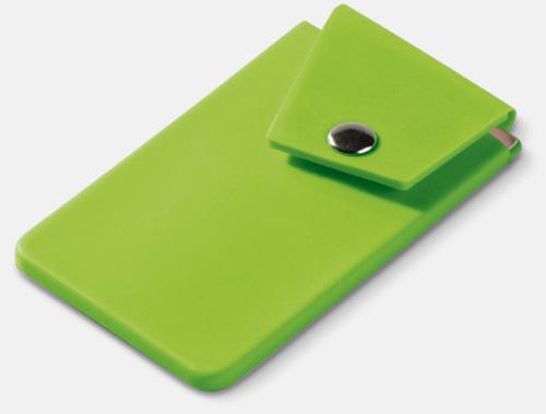 Ljusgrön Mobilfickor med knäppning - med reklamtryck