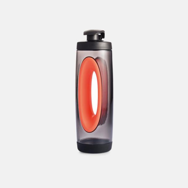 Röd BPA-fria vattenflaskor med handtag - med reklamtryck