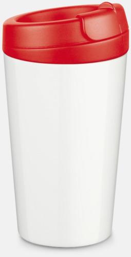 Röd 27 cl take away plastglas med reklamtryck