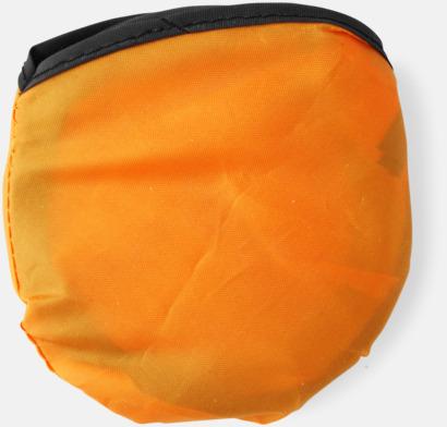Orange Frisbees med reklamtryck
