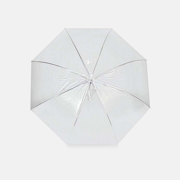Transparent Genomskinliga paraplyer med reklamtryck