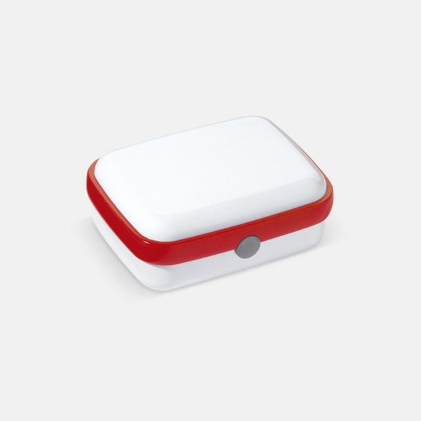 Vit/Röd Vita lunchlådor med reklamtryck