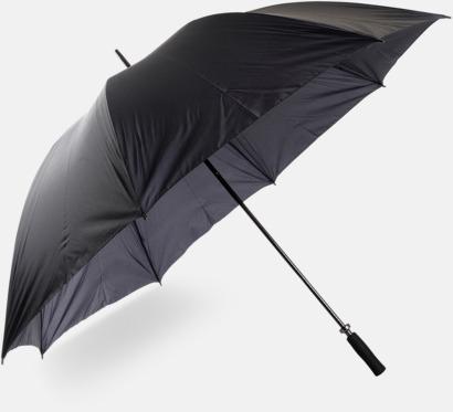 Svart Big - Golfparaplyer med tryck
