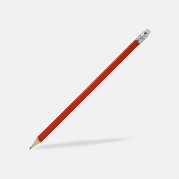 Röd Blyertspennor som kan expresslevereras med reklamtryck