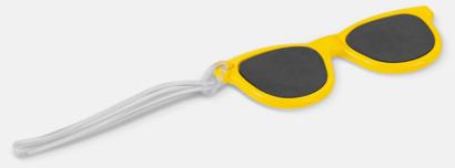 Gul Brickor formade som solglasögon med reklamtryck