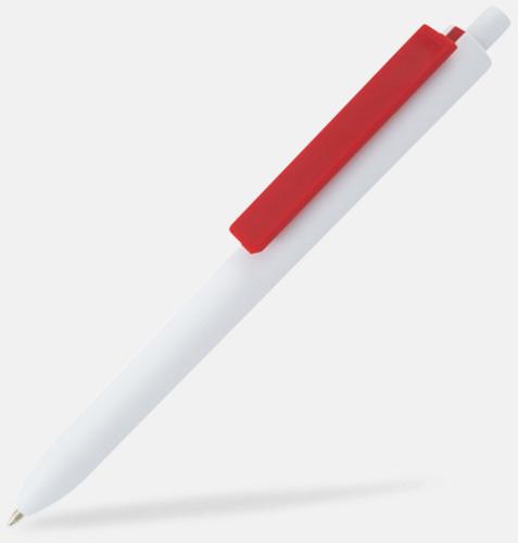 Vit / Röd Läckra bläckpennor med reklamtryck
