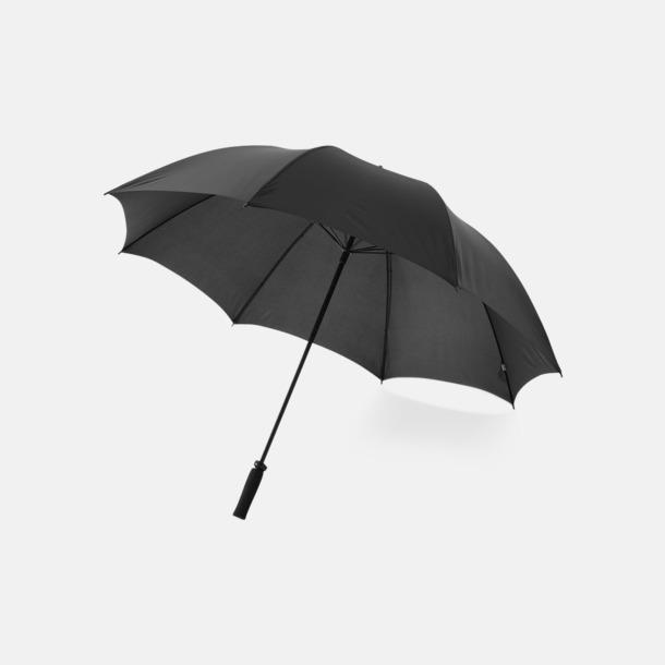 "Svart 30""-stormparaplyer med reklamtryck"