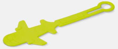 Ljusgrön Bagagerickor formade som flygplan med reklamtryck