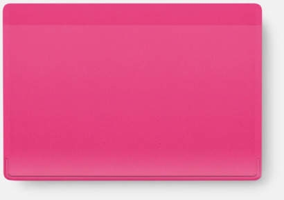 Rosa Korthållare med reklamtryck