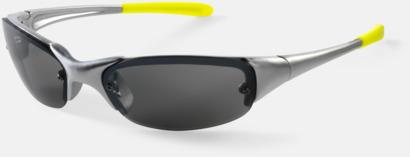 Silver/Gul Sportiga solglasögon med reklamtryck