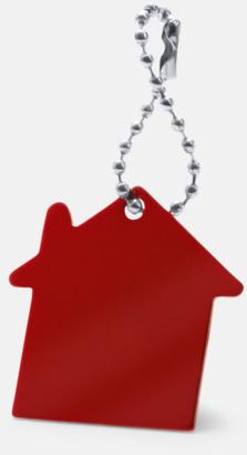 Röd Kulkedja med husfigur med reklamtryck