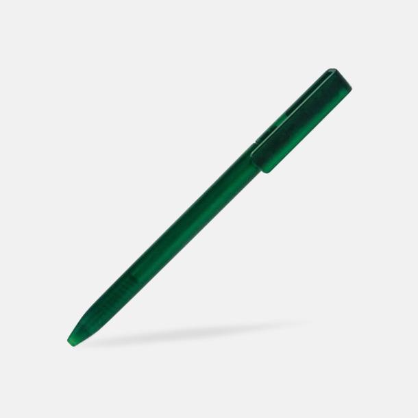Grön Plastpennor i lätt transparenta färger med reklamtryck