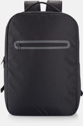 Svart Stilrena, PVC-frita laptopryggsäckar med reklamtryck