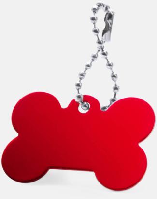 Röd Kulkedja med hundbensfigur med reklamtryck