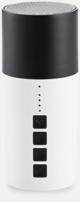 Vit / Svart Bluetoothhögtalare + powerbank med reklamtryck