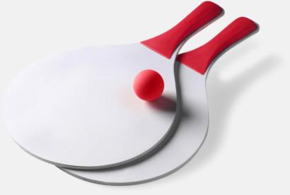 Röd / Vit Strandtennis med logo