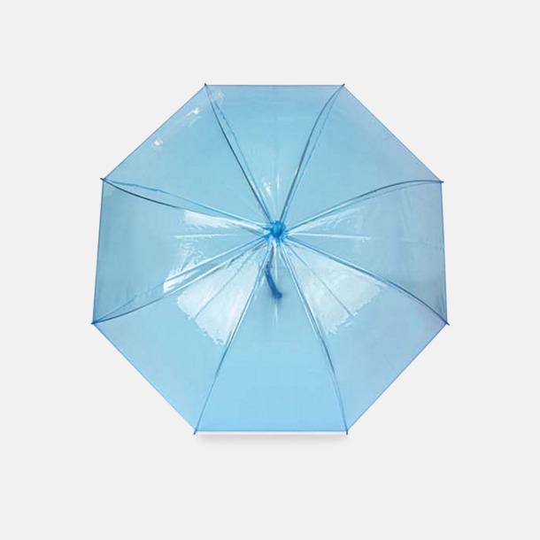Blå Genomskinliga paraplyer med reklamtryck
