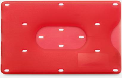 Röd Korthållare med eget tryck