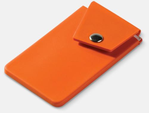 Orange Mobilfickor med knäppning - med reklamtryck