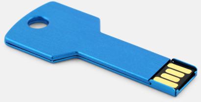 Blå USB minne nyckel