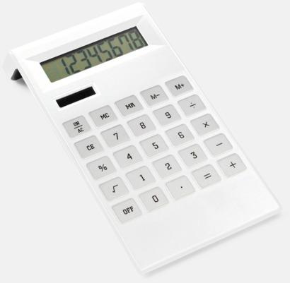 Vit Stilren miniräknare med tryck