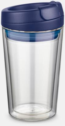 Mörkblå 27 cl take away glas med reklamtryck