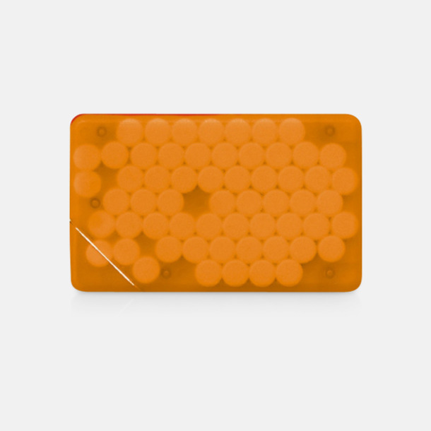 Orange transparent Fresh Card med eget tryck