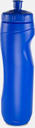 Blå (1 liter) Sportiga vattenflaskor i 3 storlekar med reklamtryck
