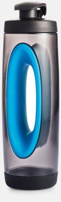 Blå BPA-fria vattenflaskor med handtag - med reklamtryck