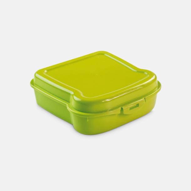 Grön Mackformade matlådor med reklamtryck
