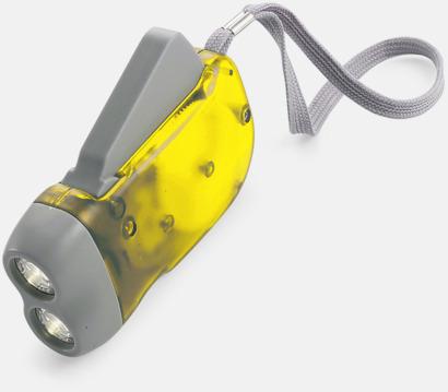 Gul / Ljusgrå Ficklampor med tryck
