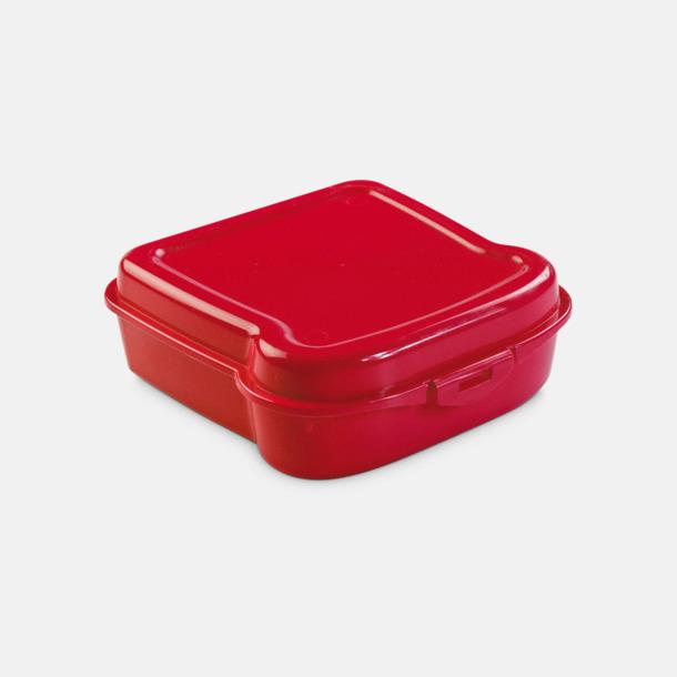 Röd Mackformade matlådor med reklamtryck