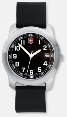 Svart urtavla - svart syntetiskt armband Victorinox Klockor