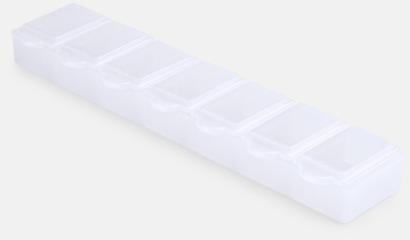 Vit Avlånga, genomskinliga tablettboxar med reklamtryck