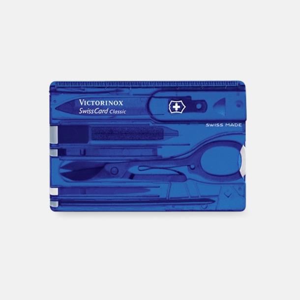 Transparent Blå SwissCard Classic från Victorinox med reklamlogo