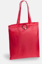 Vikbara shoppingväskor med reklamtryck