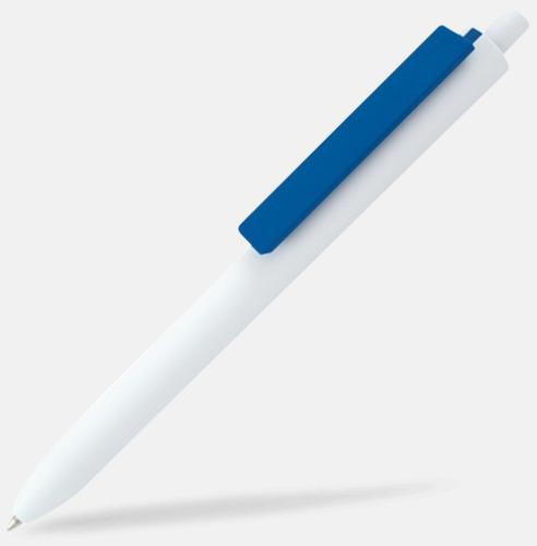 Vit / Blå Läckra bläckpennor med reklamtryck