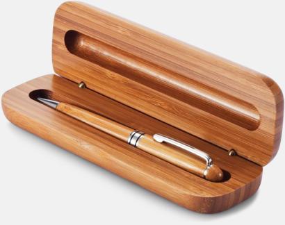 Bläckpenna i bambu med matchande fodral - med reklamlogo