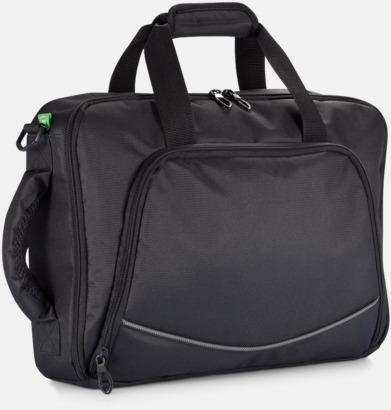 Laptop axelväska och -ryggsäck i ett med reklamtryck