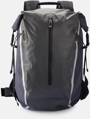 Svart PVC-fria friluftsryggsäckar från Swiss Peak med reklamtryck