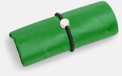 Grön Vikbara shoppingväskor med reklamtryck