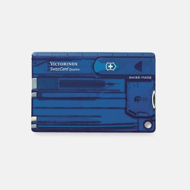 Transparent Blå Victorinox SwissCard Quattro
