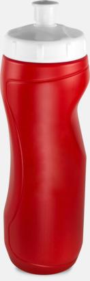 Röd (0,75 liter) Sportiga vattenflaskor i 3 storlekar med reklamtryck
