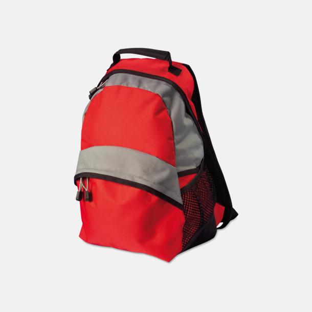Röd / Ljusgrå Ryggsäckar med eget tryck