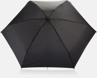 """Svart 19,5""""-paraplyer i återvunnet material med reklamtryck"""