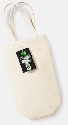 Natur Vinpåsar i Fairtrade-certifierad bomull med reklamtryck